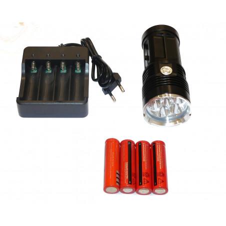 LATARKA LED UV 405nm 30W li-ion