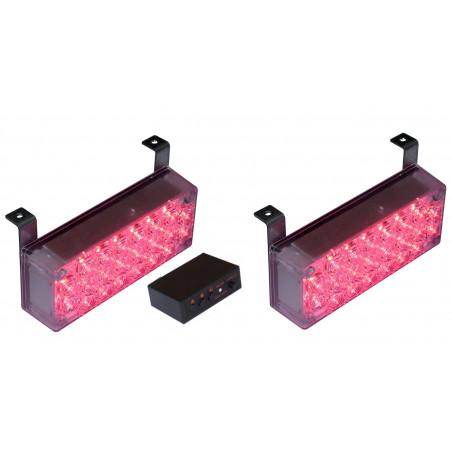 STROBOSKOPY PANELE 44 LED czerwone
