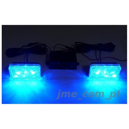 STROBOSKOPY POWER LED 6W - 2 panele + uchwyty niebieskie