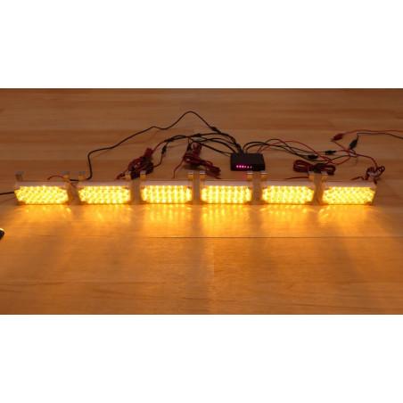 BELKA LED 6 x panel led pomarańczowy + sterownik